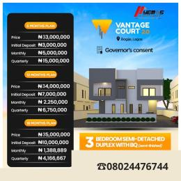 3 bedroom Semi Detached Duplex House for sale Bogije  Ibeju-Lekki Lagos