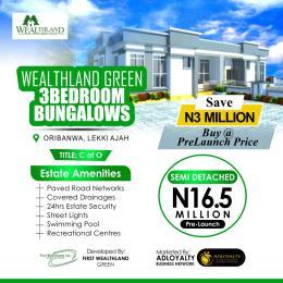 3 bedroom Semi Detached Bungalow House for sale Wealthland Green Estate, Close To Mayfair Gardens Awoyaya Oribanwa Ibeju-Lekki Lagos