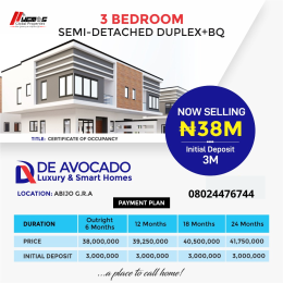3 bedroom Semi Detached Duplex House for sale GRA Abijo Ajah Lagos
