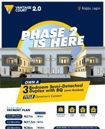 3 bedroom Semi Detached Duplex House for sale Bogije Lagos Ajah Lagos