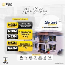 3 bedroom Semi Detached Duplex House for sale Zulus Court Estate Bogije Ibuje Awoyaya Ajah Lagos