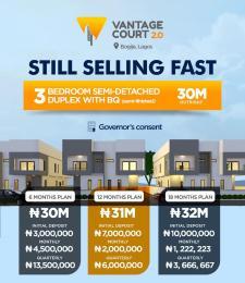 3 bedroom Semi Detached Duplex for sale Bogije Ajah Lagos Bogije Sangotedo Lagos