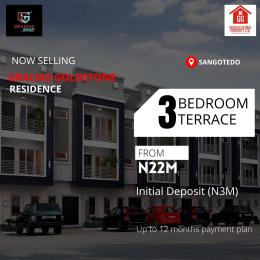 3 bedroom Terraced Duplex House for sale Off monastery road behind novare mall shoprite,Sangotedo  Monastery road Sangotedo Lagos