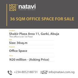 1 bedroom mini flat  Office Space Commercial Property for sale Shakir Plaza, Behind Assemblies of God, Area 11 Garki 1 Abuja