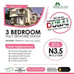 3 bedroom Detached Duplex House for sale Oribanwa Ibeju-Lekki Lagos