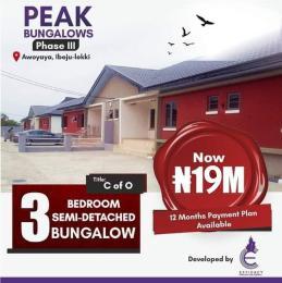3 bedroom Semi Detached Bungalow for sale Awoyaya Awoyaya Ajah Lagos
