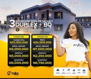 3 bedroom Semi Detached Duplex House for sale Zylus Court shares proximity with, Novare Mall, Coscharis Motors, Corona School, Omu Resort.  Bogije Sangotedo Lagos