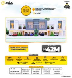 3 bedroom Terraced Duplex House for sale Abraham Adesanya Ajiwe Ajah Lagos