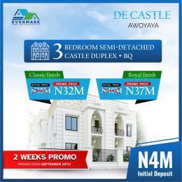 3 bedroom Semi Detached Duplex for sale Awoyaya Awoyaya Ajah Lagos