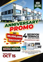 4 bedroom Terraced Duplex for sale Opposite Ocean Bay Estate Along Orchid Hotel Road chevron Lekki Lagos