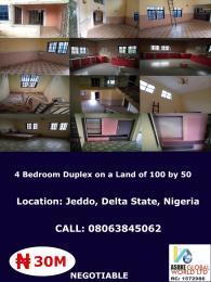4 bedroom House for sale Jed do Delta state ,Nigeria Warri Delta