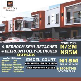 4 bedroom Detached Duplex for sale Chevron By Orchid Road chevron Lekki Lagos