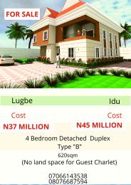 4 bedroom Detached Duplex House for sale Idu Train Station, Abuja.  Idu Abuja