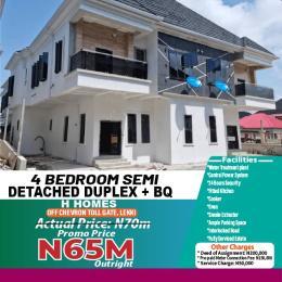Semi Detached Duplex House for sale Vella home off chevron toll gate lekki chevron Lekki Lagos