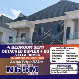 Semi Detached Duplex for sale Off Chevron Tollgate Lekki Lagos