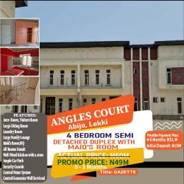4 bedroom Semi Detached Duplex House for sale Angles Court Green Wood Park Estate Abijo Abijo Ajah Lagos