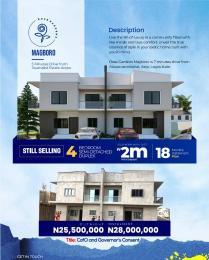 4 bedroom Semi Detached Duplex for sale 8 Minutes From Alausa Ikeja Magboro Obafemi Owode Ogun