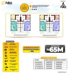 4 bedroom Semi Detached Duplex House for sale By Ajiwe Bus Stop Abraham adesanya estate Ajah Lagos