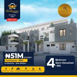 4 bedroom Semi Detached Duplex for sale Halleyvine Residences Near Novare Shoprite Monastery road Sangotedo Lagos