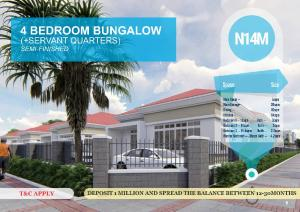 4 bedroom Detached Bungalow House for sale Ibafo, off Lagos - Ibadan Expressway  Arepo Ogun