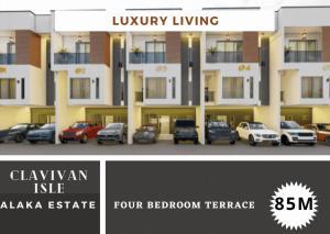 4 bedroom Terraced Duplex for sale . Alaka Estate Surulere Lagos