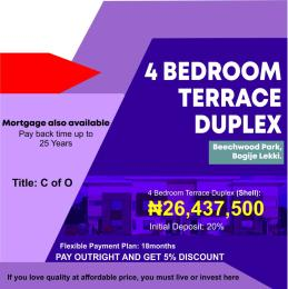 4 bedroom Terraced Duplex House for sale Beechwood Park Bogije Sangotedo Lagos