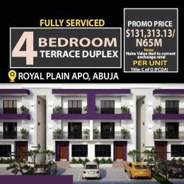 4 bedroom Terraced Duplex for sale 5 Munutes Before Apo Shoprite Mall Apo Abuja
