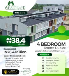 4 bedroom Terraced Duplex House for sale Oribanwa Ibeju-Lekki Lagos