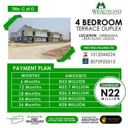 4 bedroom Flat / Apartment for sale Oribanwa, Lekki-Ajah, Lagos Off Lekki-Epe Expressway Ajah Lagos