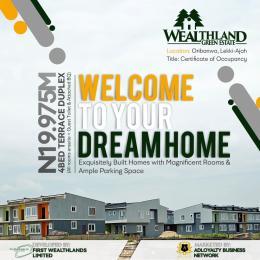 4 bedroom Terraced Duplex House for sale One Minute After Mayfair Gardens Estate. Oribanwa Ibeju-Lekki Lagos