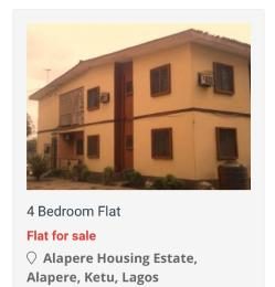 4 bedroom Flat / Apartment for sale Lsdpc Alapere estate Alapere Kosofe/Ikosi Lagos