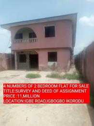 2 bedroom Blocks of Flats House for sale igbe road igbogbo ikorodu LAGOS  Igbogbo Ikorodu Lagos