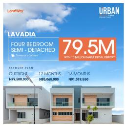 4 bedroom Semi Detached Duplex for sale Urban Prime Three Along Ogombo Road Ogombo Ajah Lagos