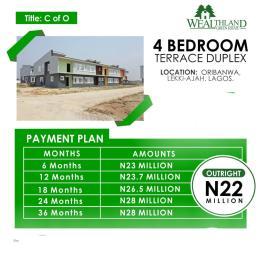 4 bedroom Terraced Duplex for sale Located At Oribanwa Awoyaya Ajah Lekki Peninsula Lagos Awoyaya Ajah Lagos