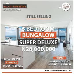 5 bedroom Detached Bungalow for sale Off Simawa Road After Rccg New Auditorium Mowe Obafemi Owode Ogun