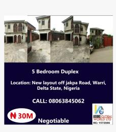 5 bedroom House for sale New layout of jakpa road,warri Delta state Nigeria Uvwie Delta