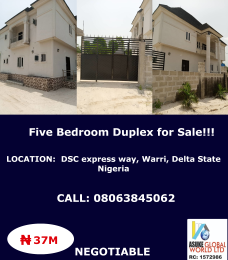5 bedroom Detached Duplex House for sale Dsc expressway Okpe Delta