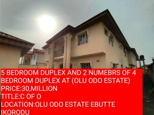 5 bedroom Semi Detached Duplex House for sale olu odo estate ebutte ikorodu LAGOS  Ebute Ikorodu Lagos