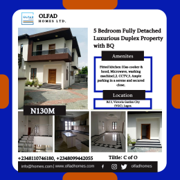 5 bedroom Detached Duplex House for sale In a serene and secured close at Victoria Garden City (VGC), Lagos VGC Lekki Lagos