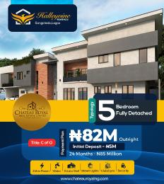 5 bedroom Detached Duplex for sale Off Monastery Road, 3 Mimutes From Novare Mall(shoprite) Monastery road Sangotedo Lagos