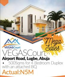 4 bedroom Serviced Residential Land Land for sale Adjacent dunamis church, Airport road Lugbe Abuja