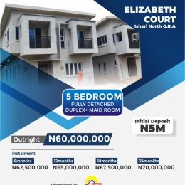 5 bedroom Detached Duplex House for sale 5 minutes from magodo Gra Isheri North Ojodu Lagos