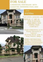 6 bedroom Penthouse Flat / Apartment for sale Asokoro Abuja