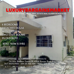 6 bedroom Detached Duplex House for rent Old Ikoyi Ikoyi Lagos