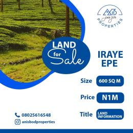 Residential Land Land for sale Iraye Epe Road Epe Lagos