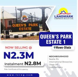 Residential Land Land for sale Queens Park Estate Mowe Obafemi Owode Ogun
