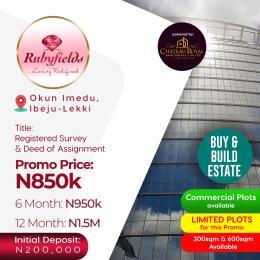Residential Land Land for sale Okun imedu, Ibeju Lekki Ibeju-Lekki Lagos