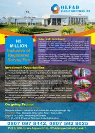 Commercial Land Land for rent Opp. Dangote Jetty, Lekki Town, Ibeju Lekki, Lagos (Dry Land) Free Trade Zone Ibeju-Lekki Lagos