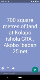 Residential Land Land for sale Kolapo Ishola Gra General Gas Akobo Akobo Ibadan Oyo