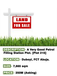 Commercial Land Land for sale Plot 215  Duboyi Abuja